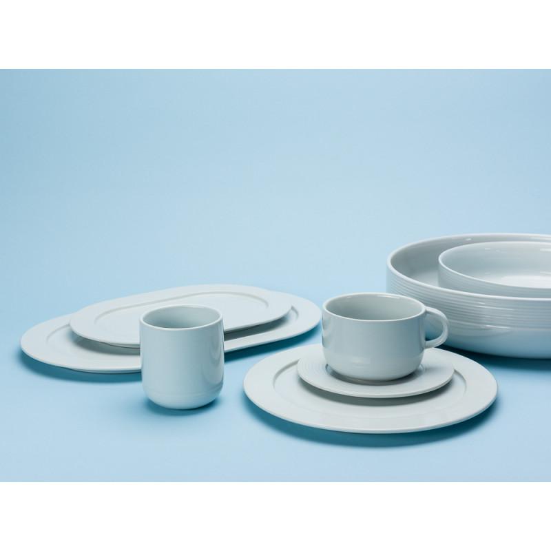 Bloomingville Ice Serie mit Teller Servierplatte Schale Becher und Tasse Keramik eis blau