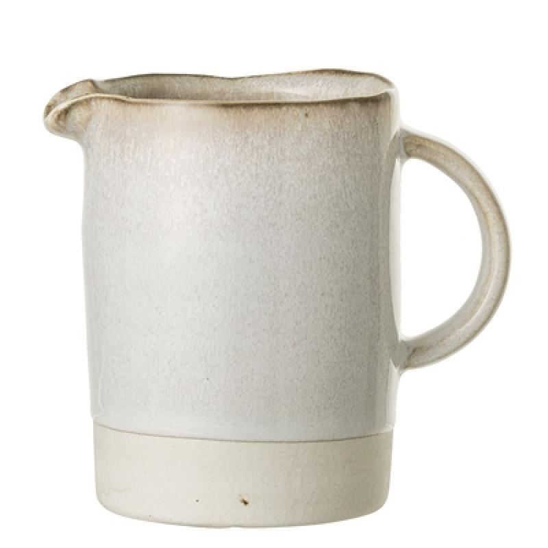 Bloomingville Kanne Carrie 350 ml Keramik creme beige