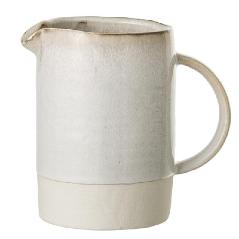 Bloomingville Kanne Carrie groß 825 ml Keramik creme beige