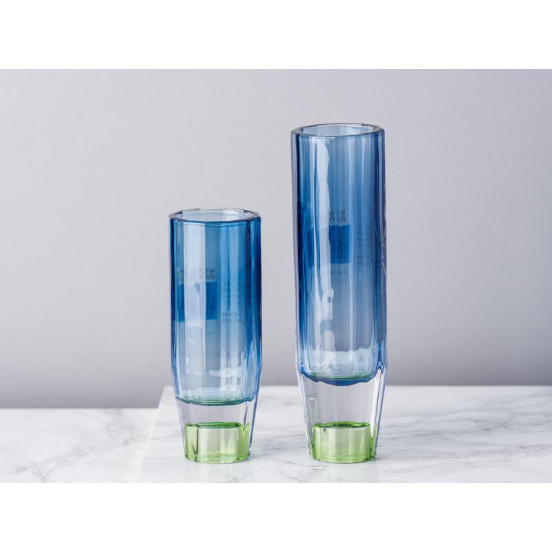 Bloomingville Kerzenhalter Blau Grün aus Glas groß und klein für 1 Kerze auch als Vase für zu verwenden Blumenvase für eine Blume Vergleich