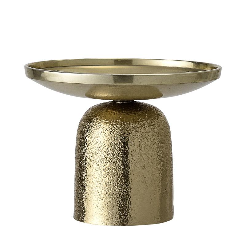 Bloomingville Kerzenhalter Gold rund aus Aluminium Metall Kerzenständer 13 cm