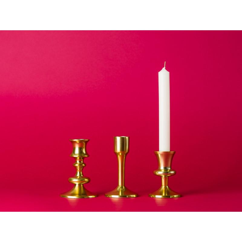Bloomingville Kerzenständer gold aus Metall drei Bloomingville Kerzenhalter im Set
