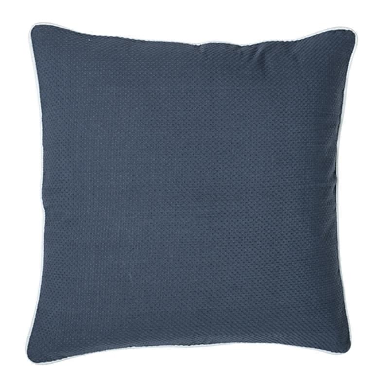 Bloomingville Kissen 50x50 blau Keder weiß inklusive Füllung