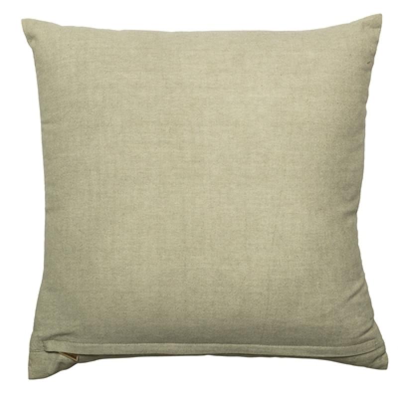 Bloomingville Kissen grün mit Palme gold 45x45 Rückseite Baumwolle