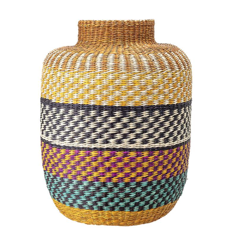 Bloomingville Korb Seegras Multi Color Deko Vase bunt 35x44 cm