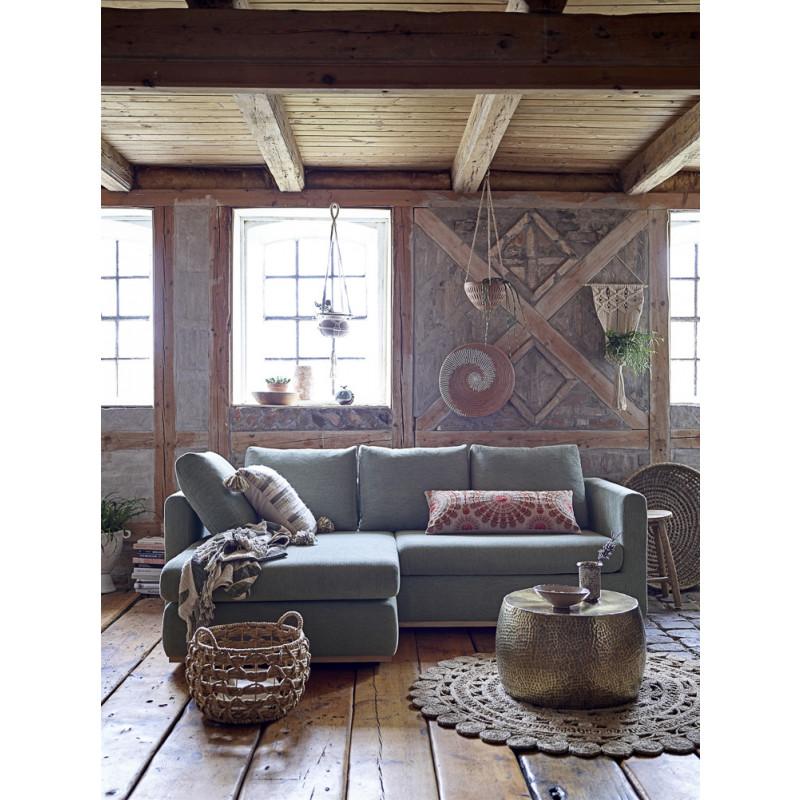 Bloomingville Korb Wasserhyazinthe mit HenkelZeitungskorb Aufbewahrungskorb rustikale Deko Fachwerk Wohnzimmer