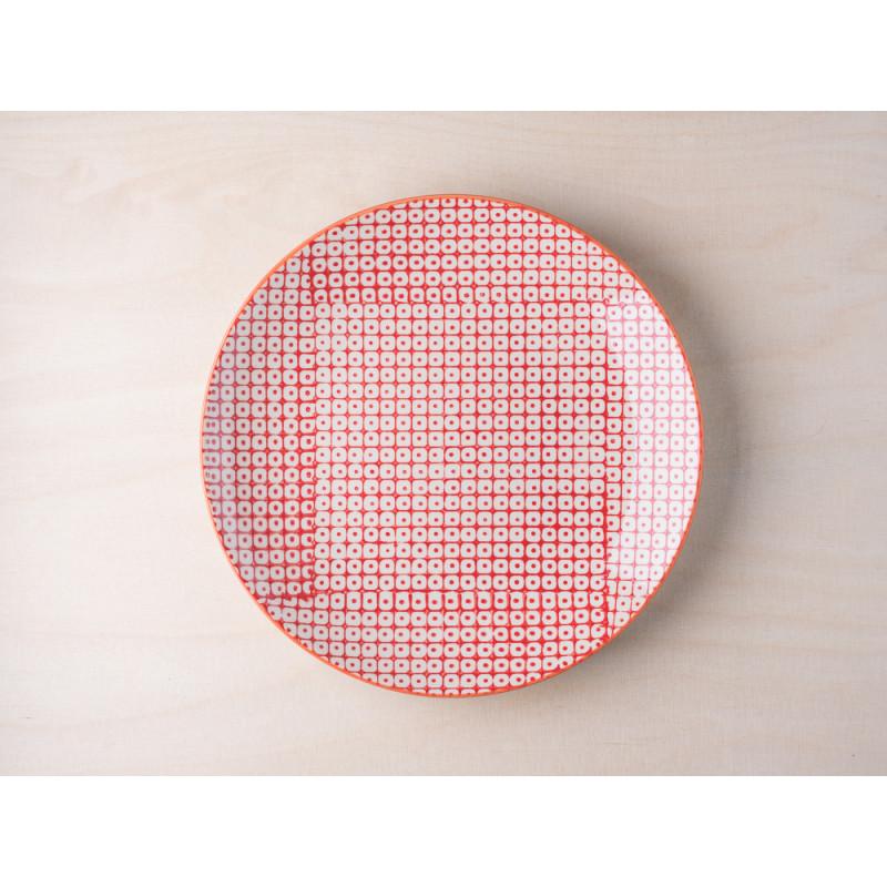 Bloomingville Kuchenteller rot aus der Carla Geschirr Kollektion Teller aus Keramik