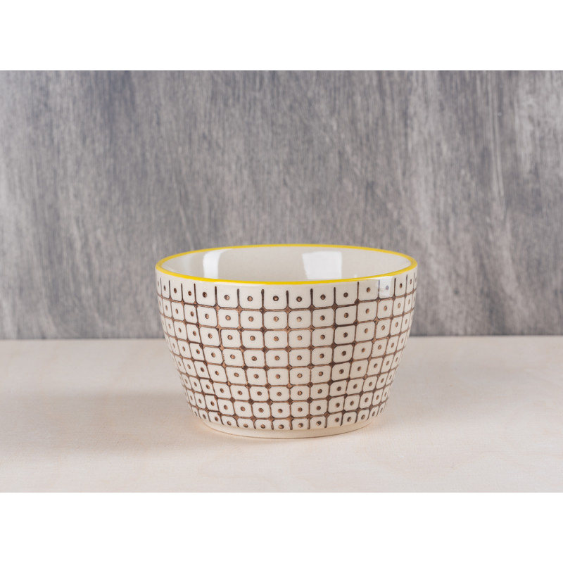Bloomingville Müslischale Keramik Bowl braun gelb Schale aus Carla Geschirr Serie