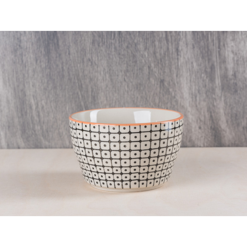 Bloomingville Müslischale Keramik Bowl schwarz orange Schale aus Carla Geschirr Serie