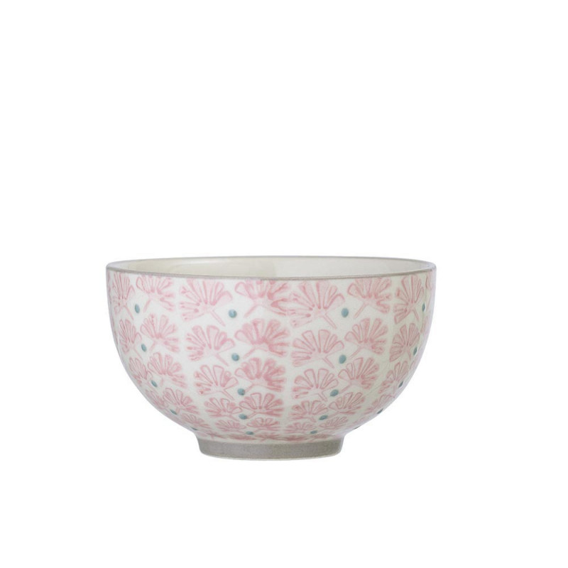 Bloomingville Müslischale MAYA Keramik Schüssel 350 ml Geschirr Schale creme rosa
