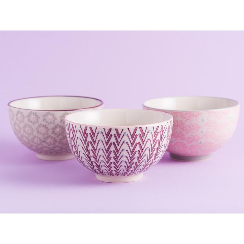Bloomingville Müslischale MAYA Keramik Schüssel klein 0,35l Geschirr Schale creme rosa grau rot alle Farben Gruppe