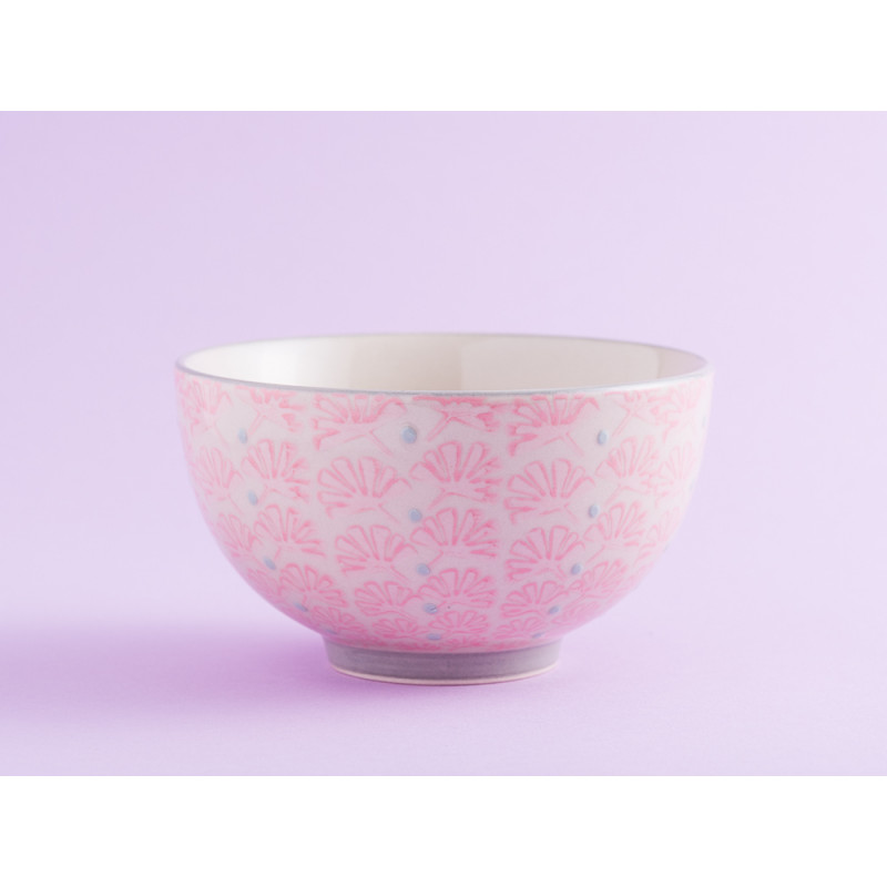 Bloomingville Müslischale MAYA Keramik Schüssel klein 0,35l Geschirr Schale creme rosa
