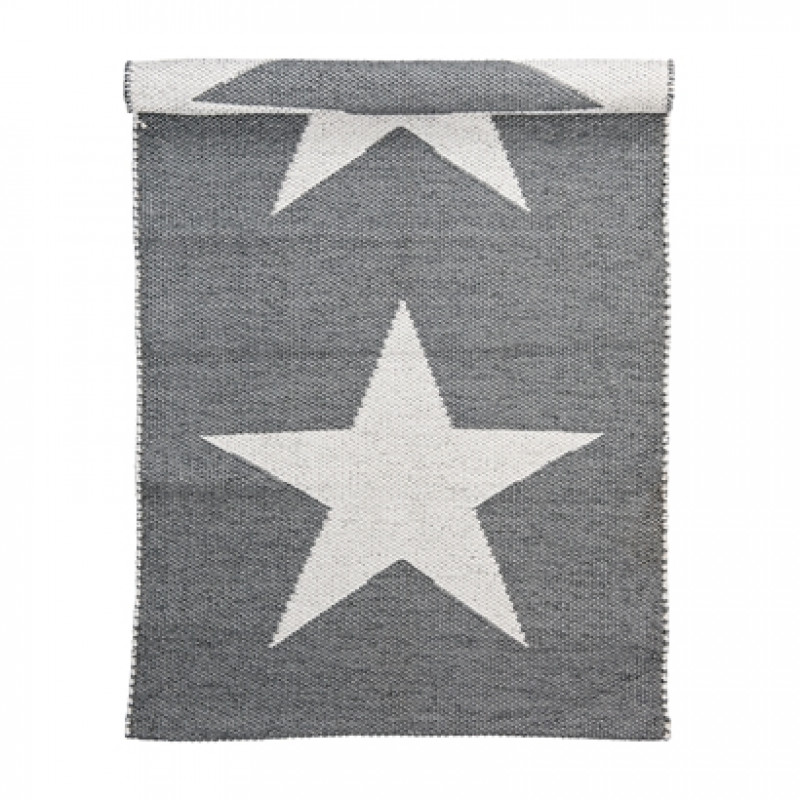 bloomingville outdoor rug cool grey star outdoor teppich aus polyester grau und wei mit gro en. Black Bedroom Furniture Sets. Home Design Ideas