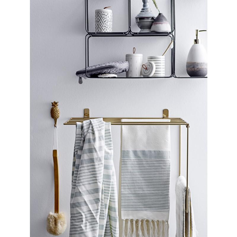 Bloomingville Regal Gold Deko Handtuchhalter für Geschirrtücher im Badezimmer Metallregal