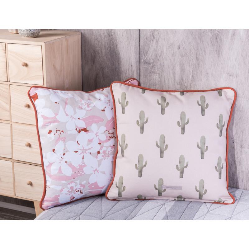 bloomingville rose kissen beige farbiges kissen mit. Black Bedroom Furniture Sets. Home Design Ideas