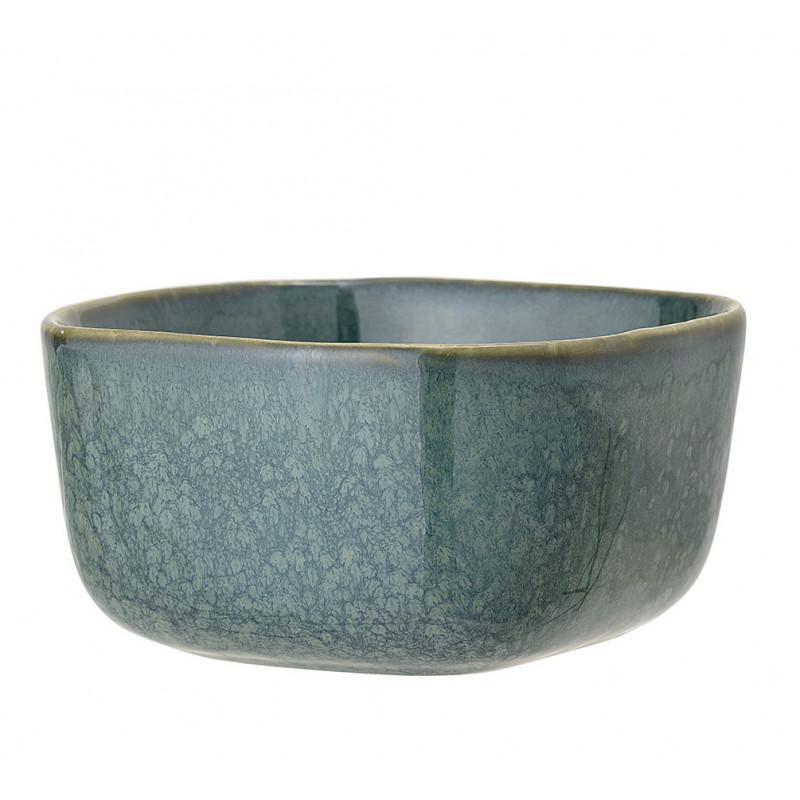 Bloomingville Schale AIME Blau Müslischale aus Keramik 500 ml 14x14 cm groß