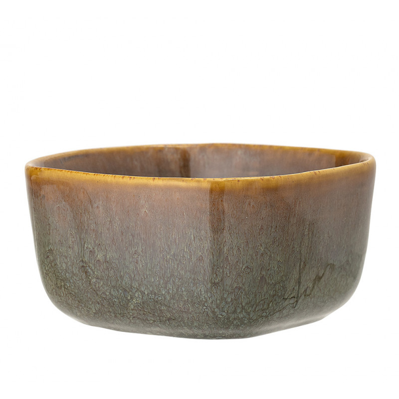 Bloomingville Schale AIME Braun Orange Müslischale aus Keramik 500 ml