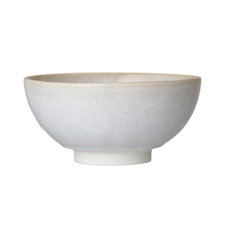 Bloomingville Schale Carrie 20,5 cm Keramik Servierschale creme beige