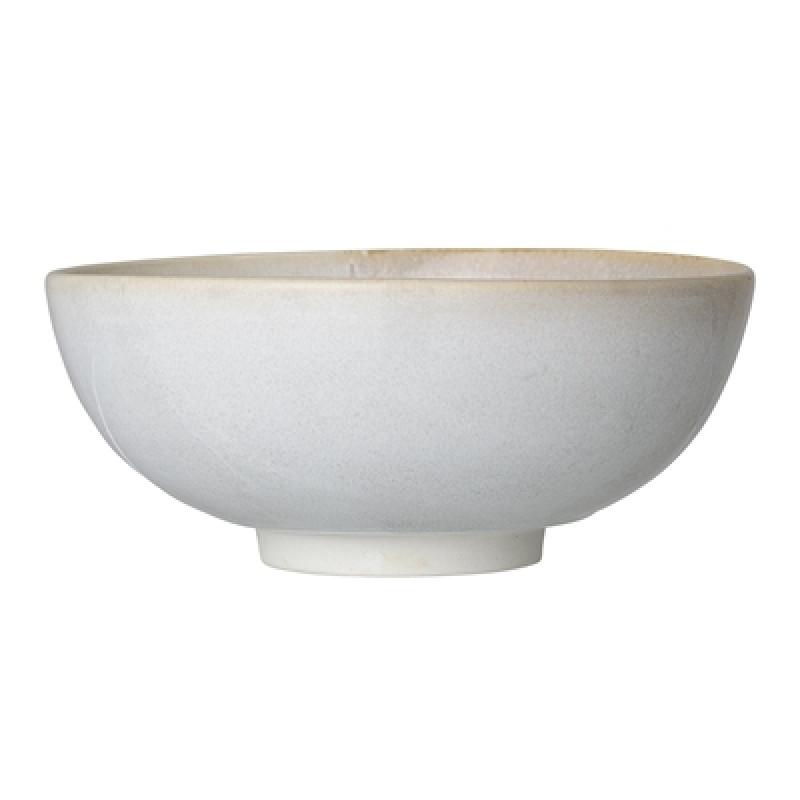 Bloomingville Schale Carrie 24,5 cm Keramik Servierschale groß creme beige
