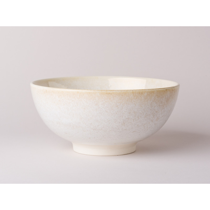 Bloomingville Schale Carrie Geschirr Serie aus Keramik in creme beige Snackschale 20,5 cm Durchmesser