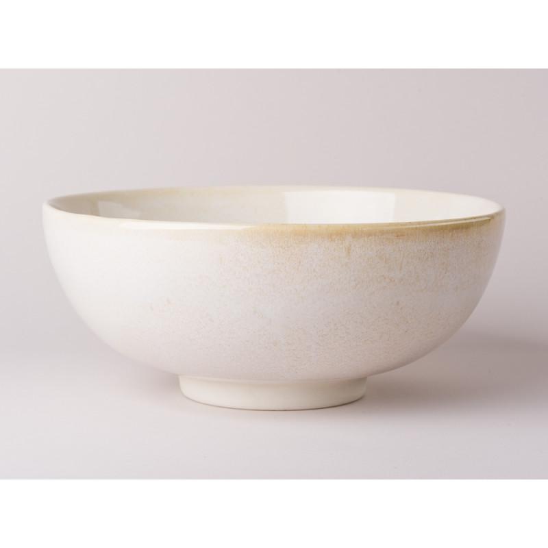 Bloomingville Schale Carrie Geschirr Serie aus Keramik in creme beige Suppenschüssel Servierschale 24,5 cm Durchmesser