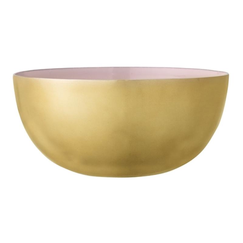 Bloomingville Schale gold rosa Aluminium 15 cm