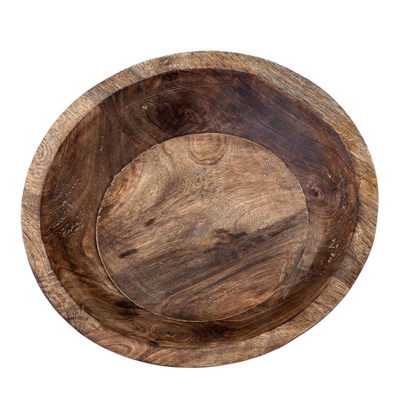 Bloomingville Schale Mango Holz Servierschale oder Snackschale 29 cm Material Lebensmittelecht Detail