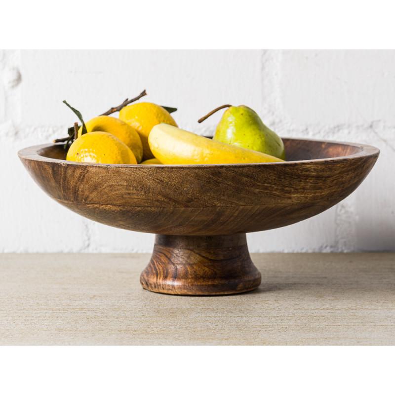 Bloomingville Schale Mango Holz Servierschale oder Snackschale Braun Dekoration 29x12 cm Dekoidee Obst
