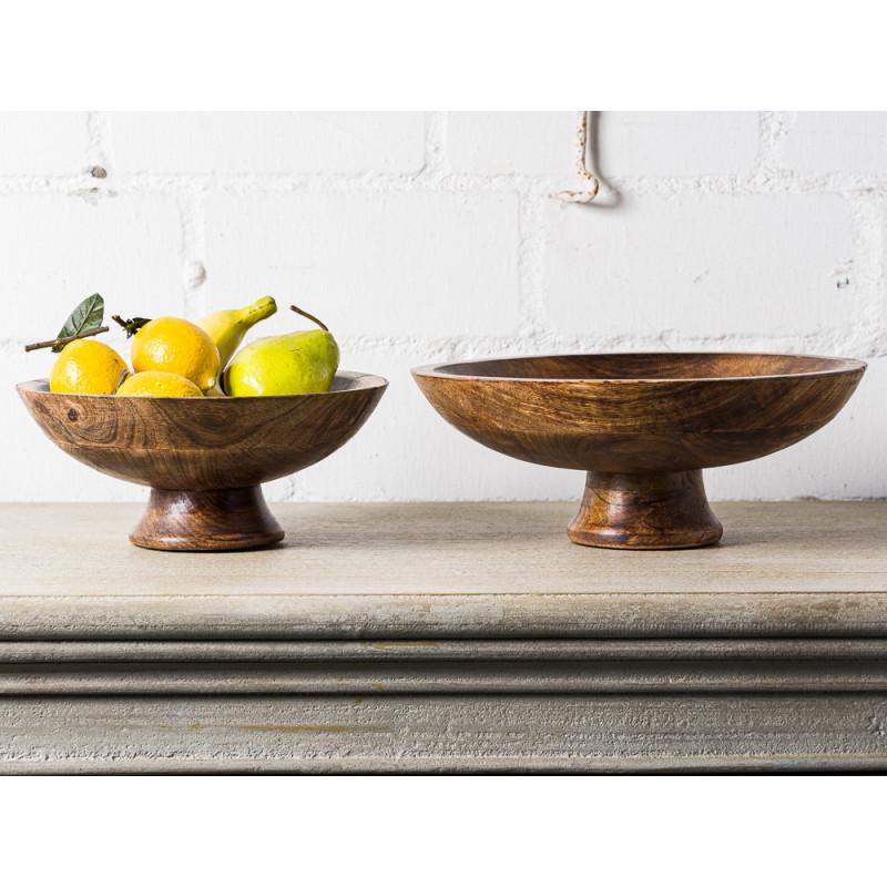 Bloomingville Schale Mango Holz Servierschale oder Snackschale Braun Dekoration Groeßenvergleich