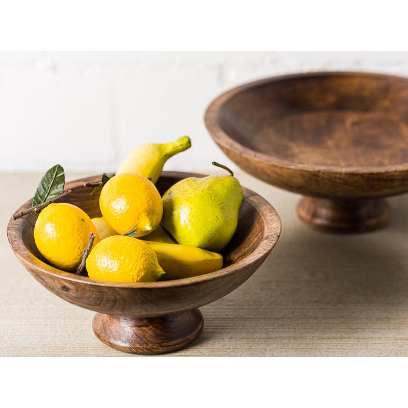 Bloomingville Schale Mango Holz Servierschale oder Snackschale Deko mit Obst