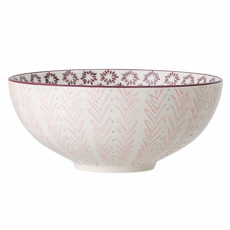 Bloomingville Schale MAYA Keramik Schüssel Geschirr Servierschale Rosa 1500 ml Bloomingville Produkt Nummer 82046865