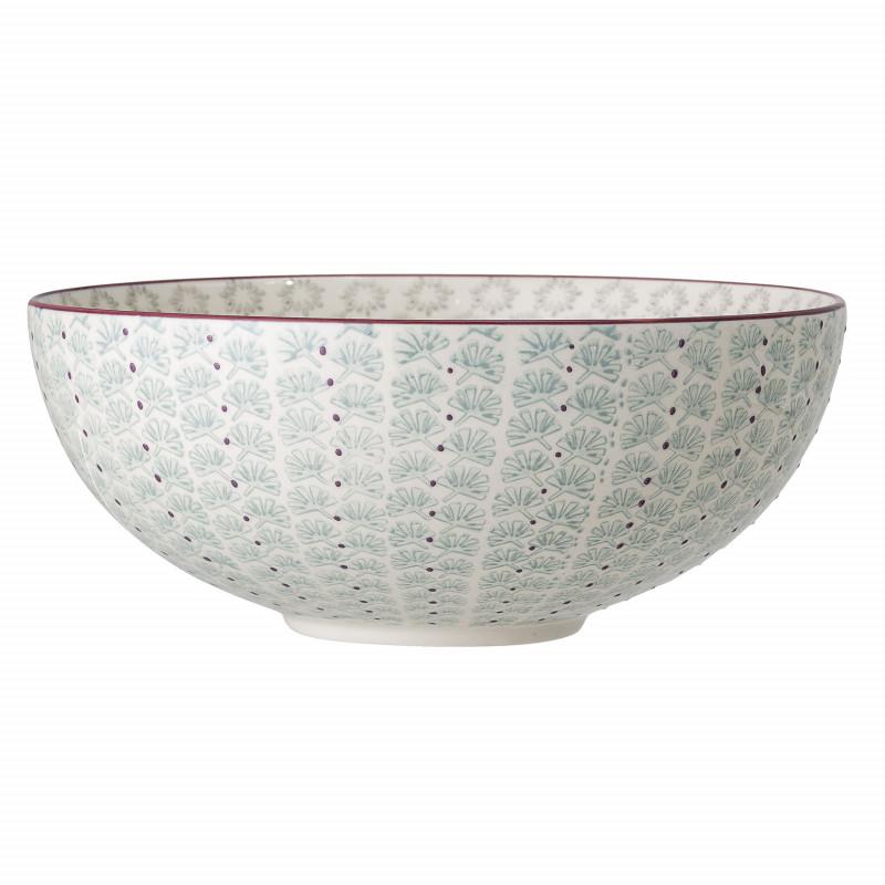 Bloomingville Schale MAYA Keramik Schüssel Geschirr Servierschale Türkis 2600 ml Bloomingville Produkt Nummer 82046866