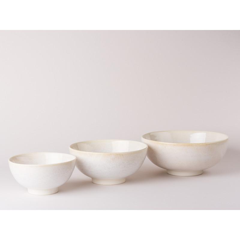Bloomingville Schalen Carrie Geschirr Serie aus Keramik in creme beige alle Größen