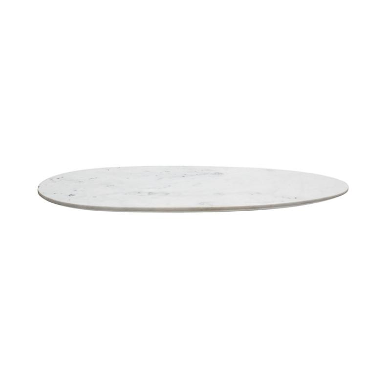 Bloomingville Schneidebrett Marmor weiss oval 53 cm Detail