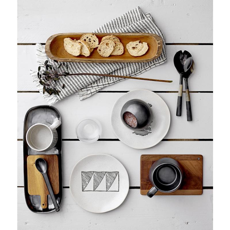 Bloomingville Schneidebrett mit Griff aus Akazien Holz 4er Set Frühstückstisch