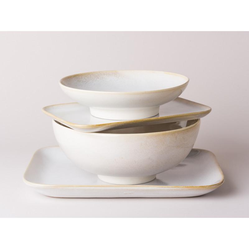 Bloomingville Servierplatten und Schalen Carrie Geschirr Serie aus Keramik in creme beige
