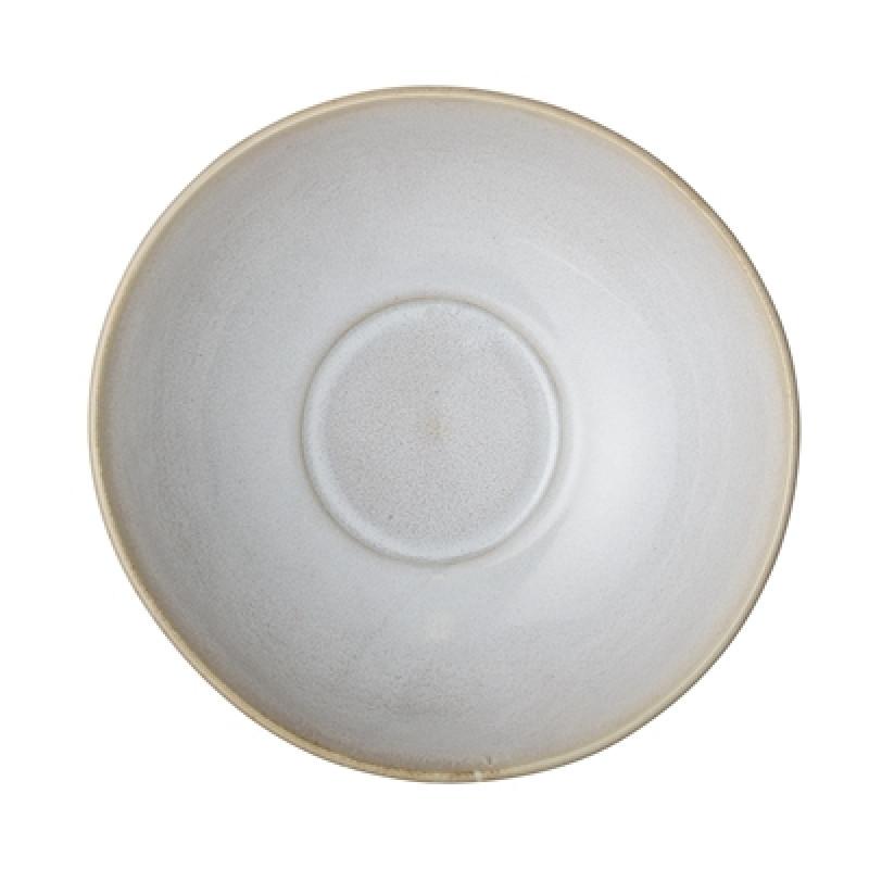 Bloomingville Servierschale Carrie creme beige 24,5 cm aus Keramik