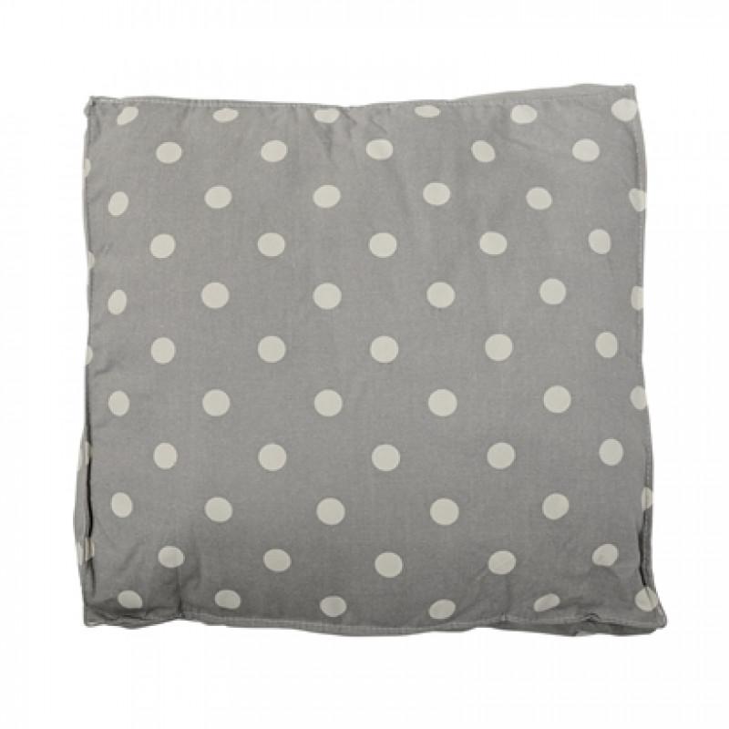 Bloomingville Sitzkissen grau mit Punkten Box Cushion