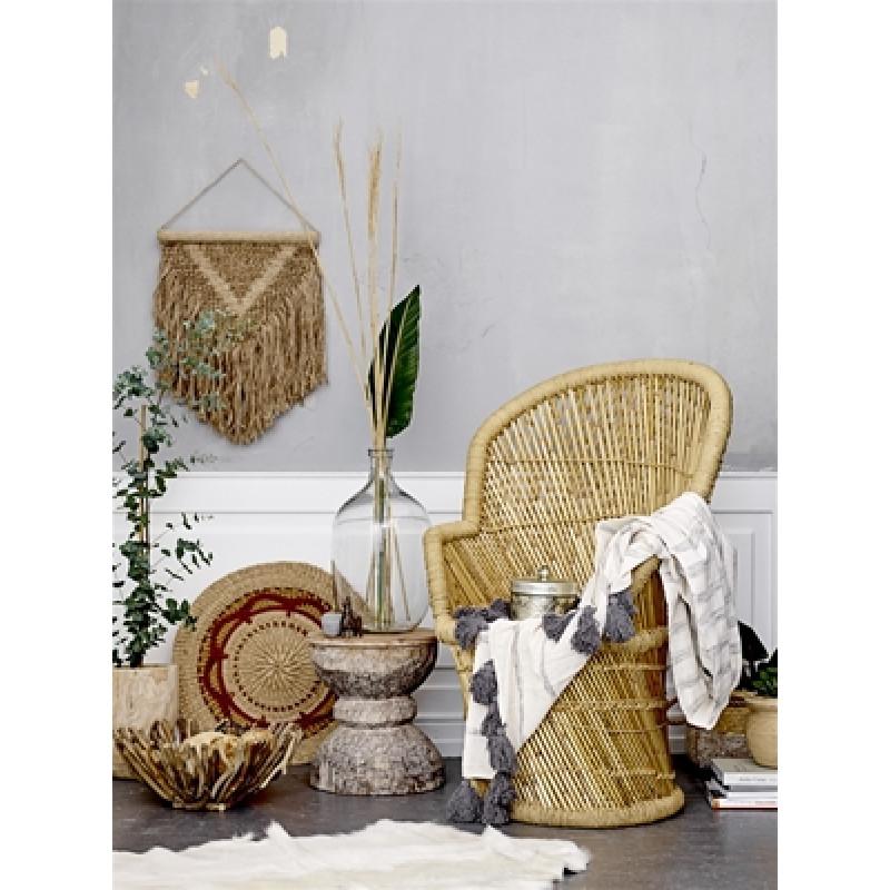 Bloomingville Stuhl Terrain aus Bambus und Deko Schal Fleur de Sel aus Holz