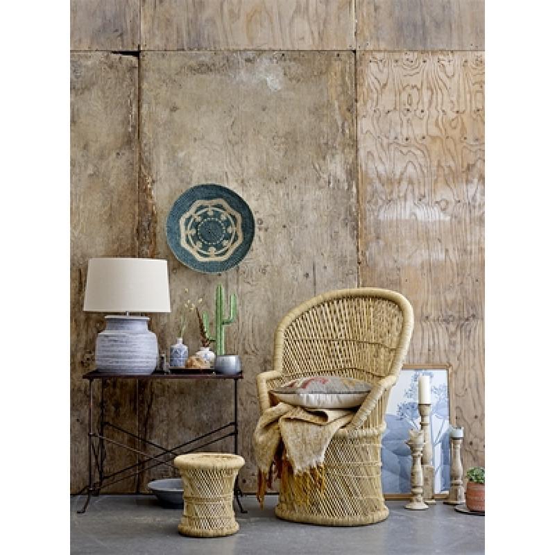 Bloomingville Stuhl Terrain Bambus natur und Hocker als Beistelltisch