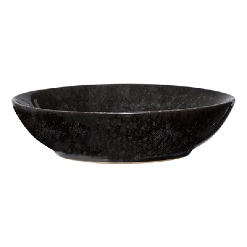 Bloomingville Suppenteller Noir 20 cm Keramik Geschirr schwarz Teller