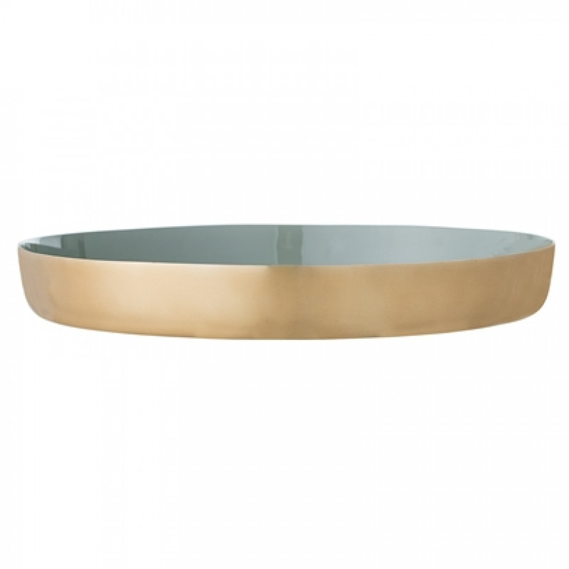 deko tablett matt gold gr n lackiert bloomingville. Black Bedroom Furniture Sets. Home Design Ideas