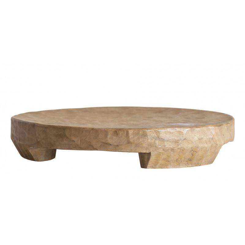 Bloomingville Tablett Mango Holz 45 cm Unikat schwere Ausführung mit Füssen