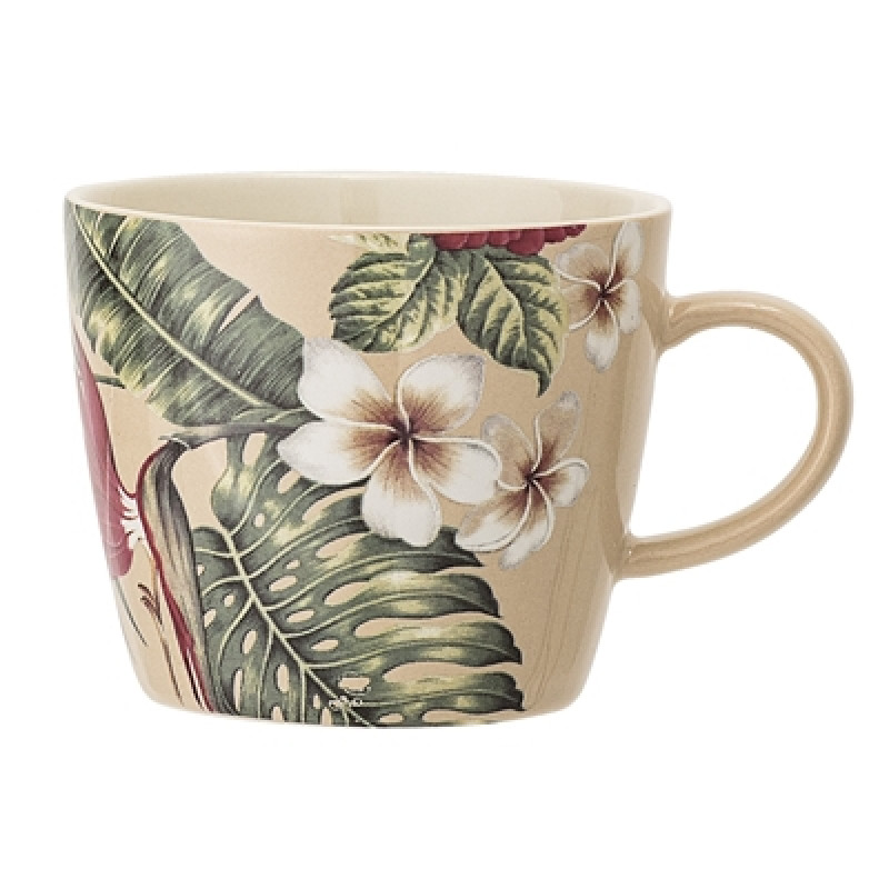 Bloomingville Tasse Aruba mit Henkel mit Blumen Blüten