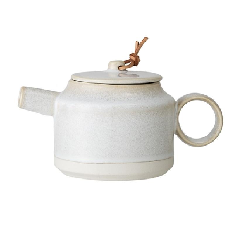 Bloomingville Teekanne Carrie Keramik creme beige