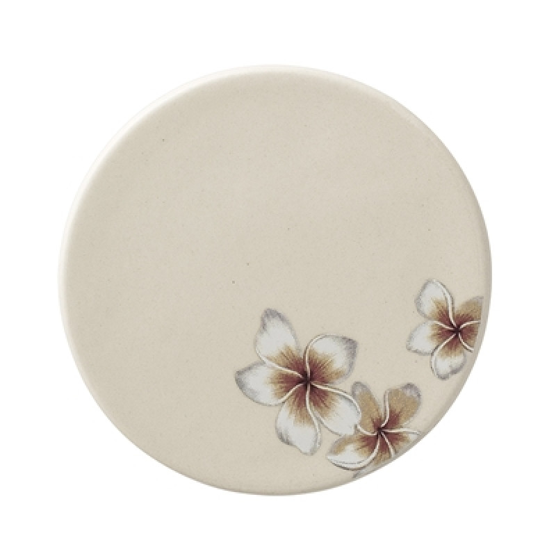 Bloomingville Teller Aruba mit Blumen 10 cm Keramik Untersetzer