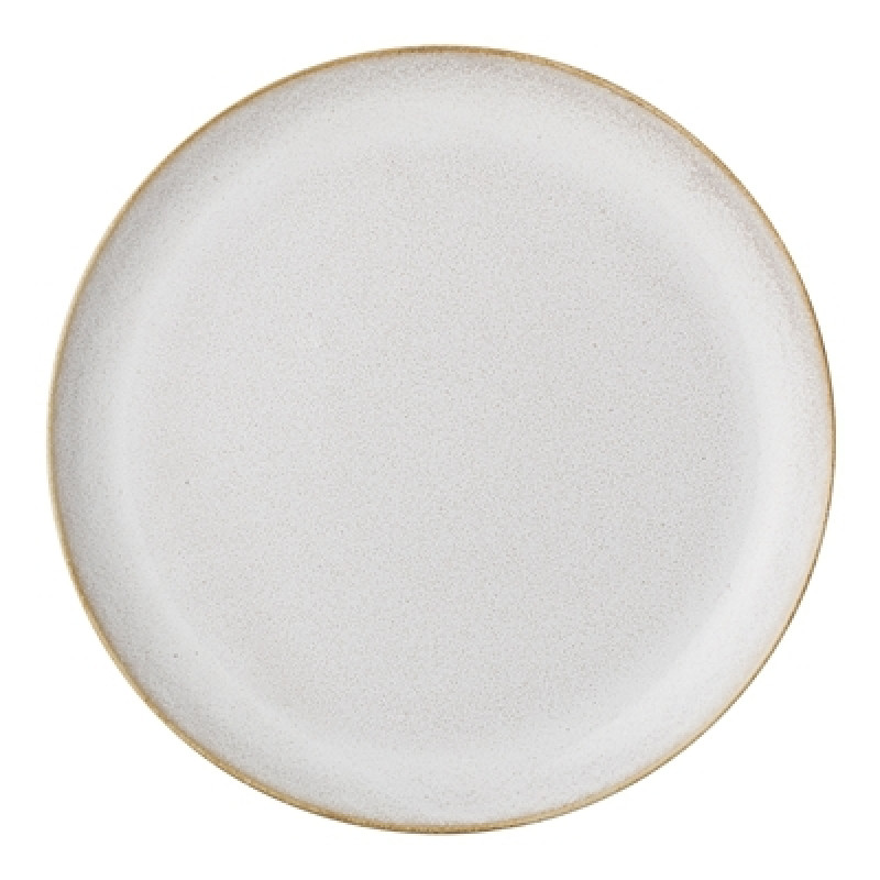 Bloomingville Teller Carrie 25 cm groß Keramik Geschirr creme beige