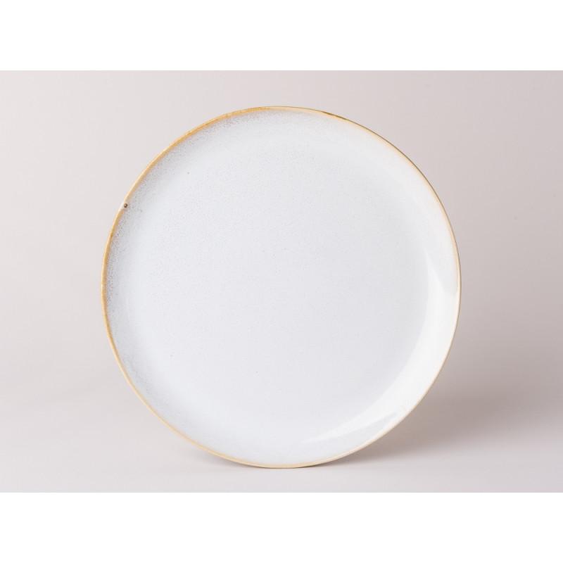 Bloomingville Teller Carrie Geschirr Serie aus Keramik in creme beige Essteller 25 cm Durchmesser