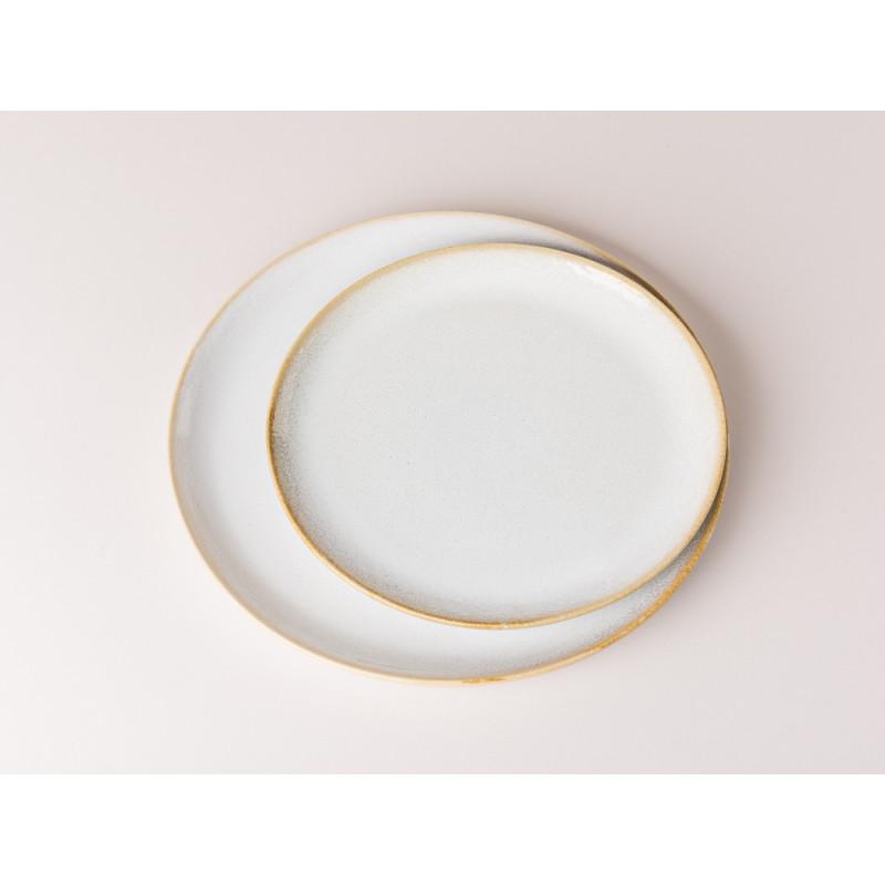 Bloomingville Teller Carrie Geschirr Serie aus Keramik in creme beige großer und kleiner Vergleich