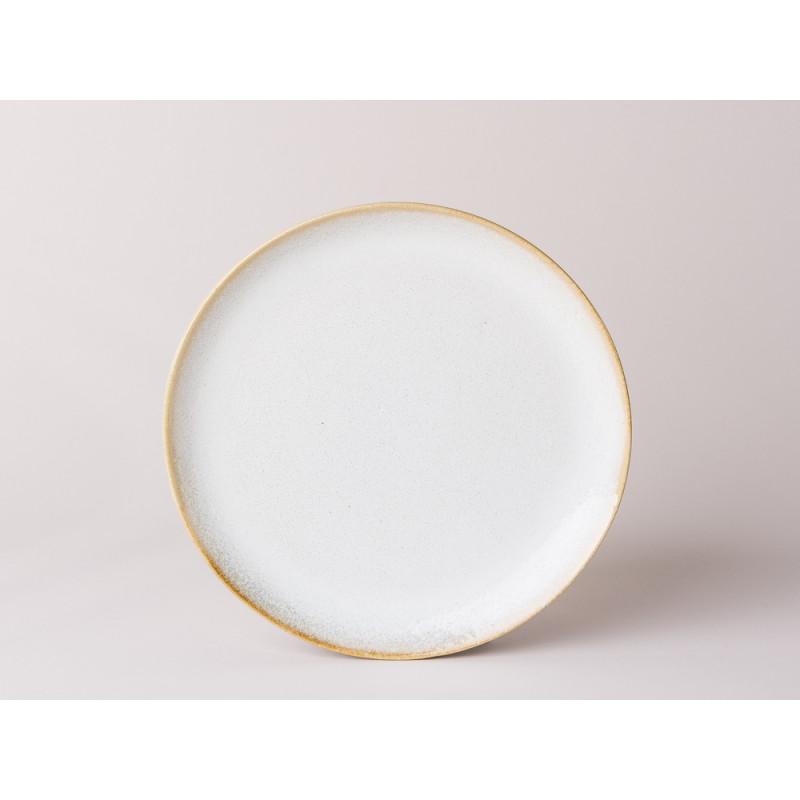 Bloomingville Teller Carrie Geschirr Serie aus Keramik in creme beige Kuchenteller 20 cm Durchmesser